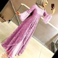 GAMIS BRUKAT IMPORT DRESS WANITA BAJU MUSLIMAH MODERN EXSCLUSIVE