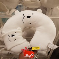 Miniso We Bare Bears Ice Bear Traveling U-Shape Neck Pillow Eye Mask