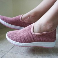 Sepatu Slip On Elastis Wanita Original M&M Collection N10
