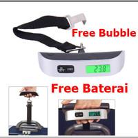 Timbangan Koper Tas Bagasi 50kg Digital Luggage Scale 50 kg Gantung