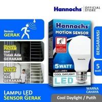 Lampu Led Sensor Gerak Motion Sensor 5w 5 watt Hannochs Bergaransi
