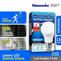 Lampu Led Sensor Gerak Motion Sensor 13w 13 Watt Hannochs Bergaransi