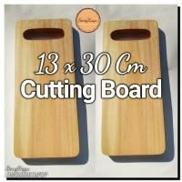 Modern Cutting board 13 x 30 Cm Talenan kayu unik Rustic chopping boar