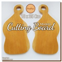 Modern Cutting Board 18x35 Cm Talenan kayu unik Chopping board rustic