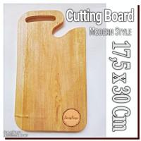 Cutting board 17,5 x 30 Cm Modern Style Talenan kayu mahoni unik