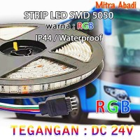 Lampu LED Strip RGB 5050 DC 24V Flexible IP44 WATERPROOF
