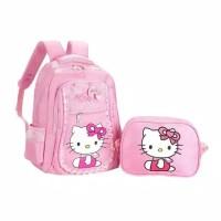 Tas Sekolah Anak Perempuan Tas Ransel Hello Kitty 2in1 Tas Ransel anak