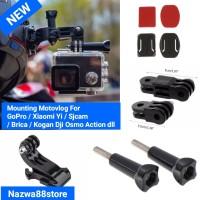 Helmet Mount Pivot Arm J-Hook Curved Flat Stiker Aksesoris Action Cam