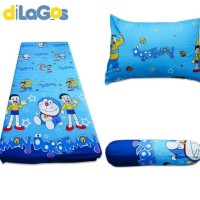 Sprei Resleting Kasur Busa - Set Doraemon