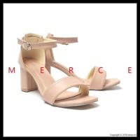 Super Murah Merce - Tessa High Heels Hitam Coklat Peach