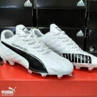 Sepatu bola puma evospeed SL white black grade original