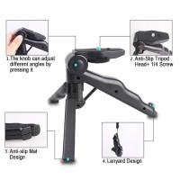 Tripod Mini dan Monopod Foldable untuk handphone dan kamera + U Clamp