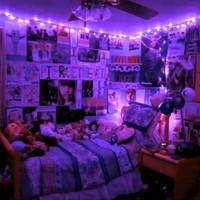 Lampu Led Dekorasi Kamar Ungu / Fairy Light /Tumblr Light /Lampu Tidur