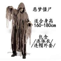 kostum Nightmare Zombie Halloween Cosplay Pria
