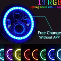 daymaker full ring 7 inch rgb remote