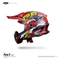 JPX Cross Full Face X16 Snake Fluorescent Red Gloss