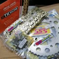 gear SET 428 SSS RANTAI TK R15 VVA V3 MT15 VIXION R RACING GOLD GER