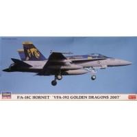 pesawat F/A-18C Hornet VFA-192 Golden Dragons 2007 model kit hasegawa