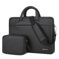Tas Laptop Selempang BRINCH PU leather with free pouch 13 inch - Black