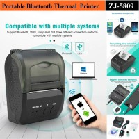 MINI PORTABLE PRINTER PPOB/KASIR 58MM THERMAL ZJIANG-5809 BLUETOOTH