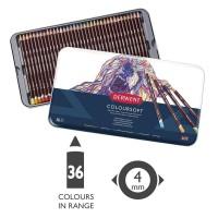 Derwent Coloursoft Pencils Color Set 36 Tin