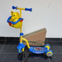 Scooter Skuter Anak Roda Tiga PMB S03 Biru Kuning Double Musik Lampu