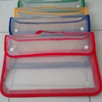 Map Plastik Zipper Bag Kancing / Ziper Bag Kancing