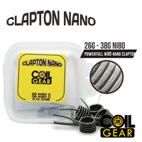 Coil Gear Clapton Nano Ni80 2 Pasang 26G+38G Caoil Prebuilt Vape Vapor