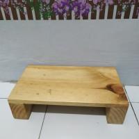 kursi jongkok /dingklik kayu Jati Belanda sudah di vernis