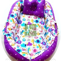BabyNest Baby Nest Kasur Bayi kado lahiran murah terbaik animal ungu