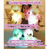 Boneka Beruang LED Import 50cm Super Quality,Mainan Anak/Kado