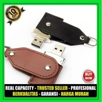 USB Flashdisk Kulit SWIVEL FDLT23 Souvenir Promosi GARANSI 10 THN