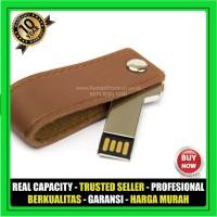 USB Flashdisk Kulit SWIVEL FDLT25 Souvenir Promosi GARANSI 10 THN