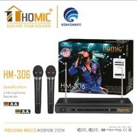 Mic Microphone Double Wireless HOMIC HM 306 Mikrofon