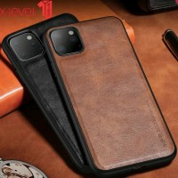 Back Cover Case iPhone 11 6.1 Inch - X Level Vintage Leather Style