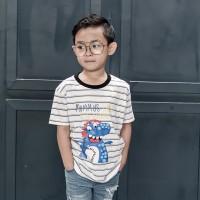 Kaos Anak Garis   Salur Anak - Anak  L079 - Little Loud-asaurus