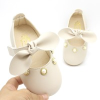 New Season New Pearl Bow Girl Baby Girl Baby Toddler Shoes