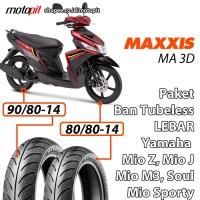 Maxxis MA 3D Paket Ban Lebar Yamaha Mio Z J Sporty Soul M3 Sepasang
