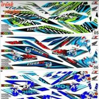 striping sticker polet decal honda sonic 150R Z1