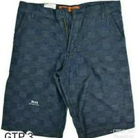 GTP 3 Celana Pendek Santai Pantai Pria Bahan Blue Jeans