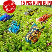 Dekorasi taman kebun cantik kupu kupu mirip asli