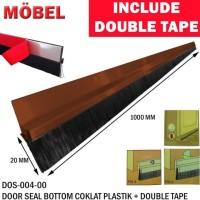 Door Bottom Seal / Lis Penutup Pintu 1 Meter Plastik Coklat Model Bulu