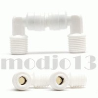 Fitting Elbow Ro 1/4 Inch Drat Luar - Selang