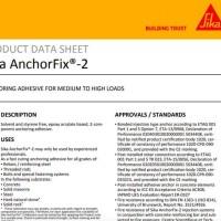 Sika Anchorfix 2 / Lem Beton / Lem Angkur / Chemical Anchor