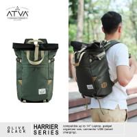 Tas Ransel Gulung Atva Bags Harrier Backpack Olive Black
