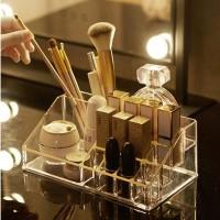 Rak Kosmetik Makeup Acrylic Organizer Akrilik Case Tempat Kuas RO017