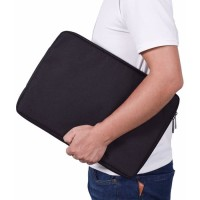 Tas Laptop Softcase Waterproof Nylon High Quality 11 12 inch - black
