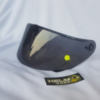Flat Visor NHK RX9 pnp GM Race PRO Darksmoke dan Clear Bening dan TOP