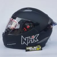 Helm NHK RX9 HITAM DOFF PUTIH MERAH GREY ORIGINAL PLUS SPOILER