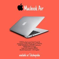 "TERBARU Apple MacBook Air 2017 MQD32 13.3"" Core i5,8G,128SSD - Silver"